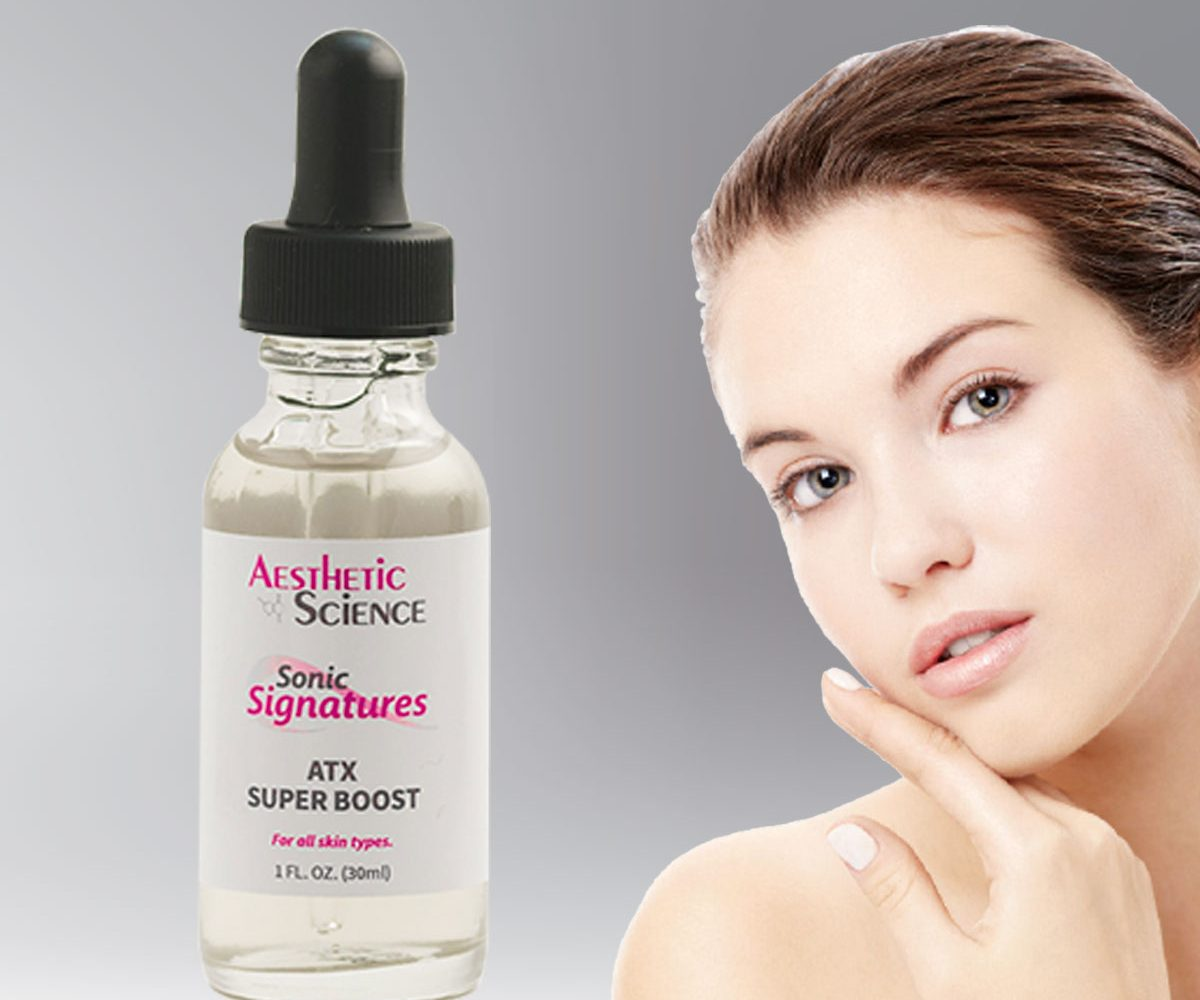Aesthetic Science Skincare's ATX Super Boost branded treatment