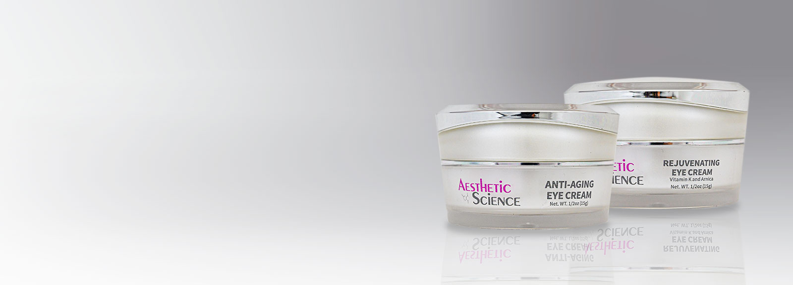 Aesthetic Science Skincare's professional assorted eye products from their professional skincare product line