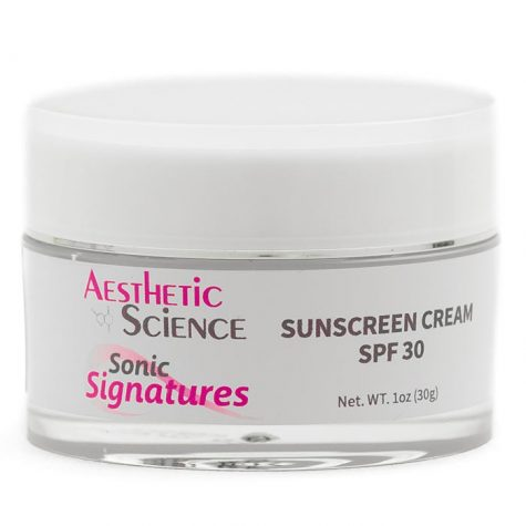 Aesthetic Science Skincare's professional skincare product Sunscreen Cream SPF 30