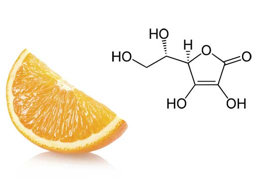 Vitamin C is a powerful antioxidant that boosts the effectiveness of Vitamin E and lightens the skin