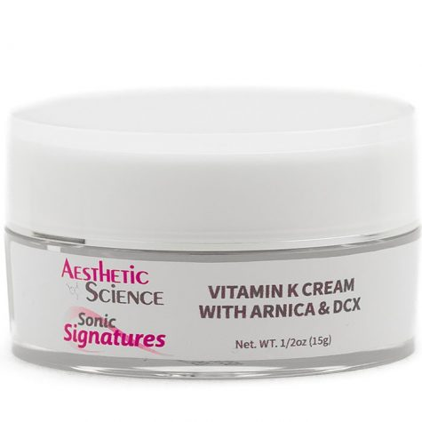 Aesthetic Science Skincare's professional skincare product Vitamin K, DCX, Arnica