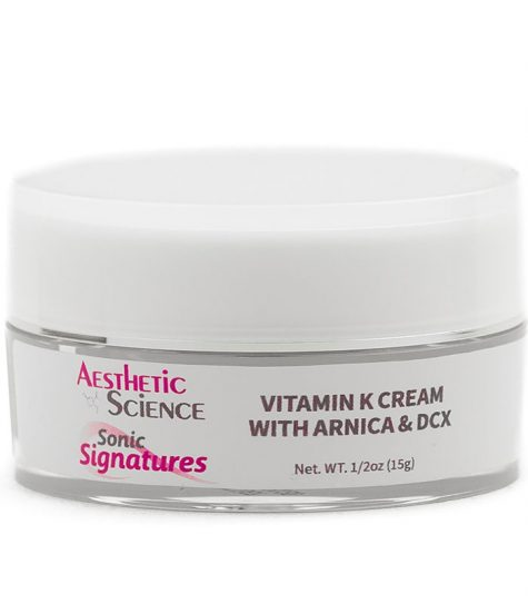 Aesthetic Science Skincare's professional skincare product Vitamin K, DCX, Arnica