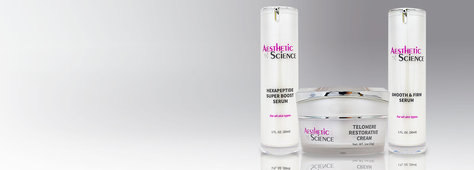 Aesthetic Science Skincare's professional assorted Younger Looking Skin products from their professional skincare product line